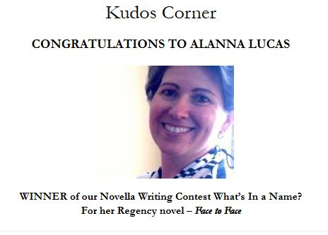 Alanna Lucas - WINNER of our Novella Writing Contest What's In a Name?
